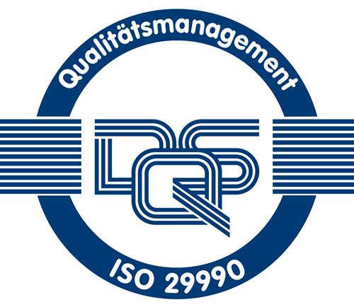 DQS Qualitätsmanagement ISO 29990